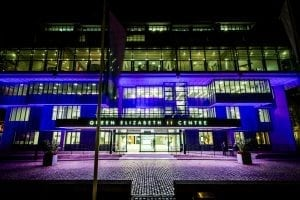 External Image of the QEII Centre at Night